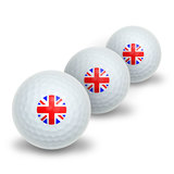 Britain British Flag - Union Jack Novelty Golf Balls 3 Pack