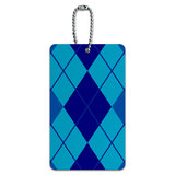 Argyle Hipster Blue - Preppy ID Card Luggage Tag
