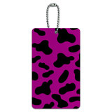 Cow Print Fuchsia ID Card Luggage Tag