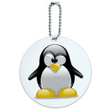 Penguin Snow Bird Round ID Card Luggage Tag