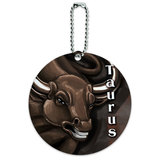 Taurus Zodiac Round ID Card Luggage Tag