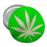 Marijuana Pot Weed Leaf Green Round Rubber Non-Slip Jar Gripper Lid Opener
