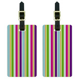 Yuppy Colorful Stripes Luggage Tag Set