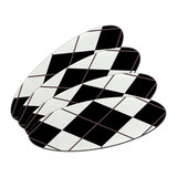 Argyle Hipster Black White - Preppy Oval Nail File Emery Board 4 Pack