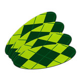 Argyle Hipster Green - Preppy Double-Sided Oval Nail File Emery Board Set 4 Pack