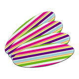 Yuppy Colorful Stripes Double-Sided Oval Nail File Emery Board Set 4 Pack