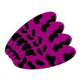 Cow Print Fuchsia Double-Sided Oval Nail File Emery Board Set 4 Pack