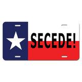 Texas Flag Secede Novelty License Plate