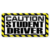 Caution Student Driver Novelty License Plate