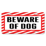 Beware of Dog - Sign Alert Warning Novelty License Plate