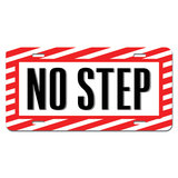 No Step - Airplane Wing Warning Sign Novelty License Plate