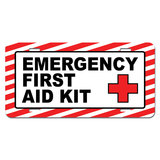 Emergency First Aid Kit - Business Store Sign Novelty License Plate