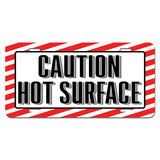 Caution Hot Surface - Business Store Sign Novelty License Plate
