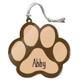 Abby Paw Print Acrylic Christmas Ornament