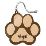 Abigail Paw Print Acrylic Christmas Ornament
