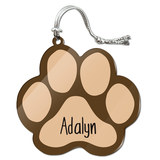 Adalyn Paw Print Acrylic Christmas Ornament
