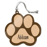 Addison Paw Print Acrylic Christmas Ornament