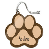 Adeline Paw Print Acrylic Christmas Ornament