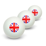 Britain British Flag - Union Jack Novelty Table Tennis Ping Pong Ball 3 Pack