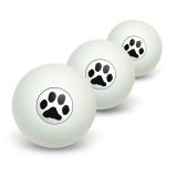 Paw Print - Pet Dog Cat Novelty Table Tennis Ping Pong Ball 3 Pack