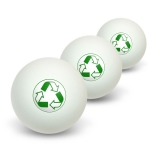 Recycle Reuse Conservation - Hybrid Novelty Table Tennis Ping Pong Ball 3 Pack