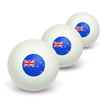 New Zealand Flag Novelty Table Tennis Ping Pong Ball 3 Pack
