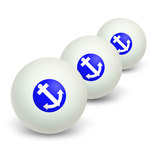 Anchor - Boat Sailing Novelty Table Tennis Ping Pong Ball 3 Pack