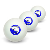 Shark Novelty Table Tennis Ping Pong Ball 3 Pack
