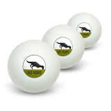 I Hate Pushups - T-Rex Novelty Table Tennis Ping Pong Ball 3 Pack