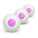 Vintage Chevrons Magenta Distressed Novelty Table Tennis Ping Pong Ball 3 Pack