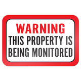 "Warning This Property Is Being Monitored 9"" x 6"" Metal Sign"