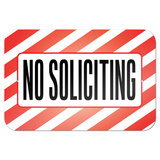 "No Soliciting 9"" x 6"" Metal Sign - No. 1"