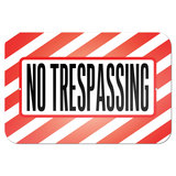 "No Trespassing 9"" x 6"" Metal Sign"
