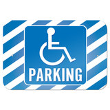 "Handicapped Parking 9"" x 6"" Metal Sign - No. 1"