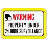 Warning Property Under 24 Hour Surveillance Plastic Sign