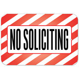 No Soliciting Plastic Sign