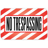 No Trespassing Plastic Sign