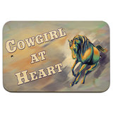 "Cowgirl at Heart - Country Horse 9"" x 6"" Wood Sign"