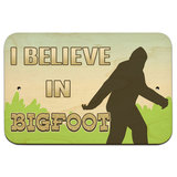 "I Brake for Bigfoot - Sasquatch 9"" x 6"" Wood Sign"