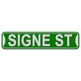 Signe Street - Green - Plastic Wall Sign