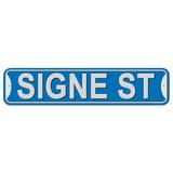 Signe Street - Blue - Plastic Wall Sign