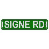Signe Road - Green - Plastic Wall Sign