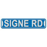 Signe Road - Blue - Plastic Wall Sign