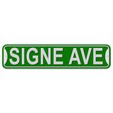 Signe Avenue - Green - Plastic Wall Sign