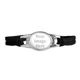 Custom Novelty Suede Leather Metal Bracelet