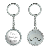 Custom Pop Cap Bottle Opener Keychain