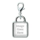 Custom Square Silver Charm