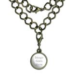 Custom Brass Charm with Chain