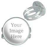 Custom Silver Plated Adjustable Novelty Ring
