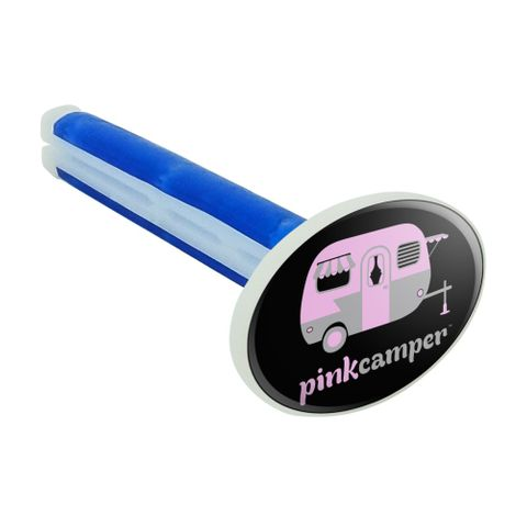 Pink Camper Trailer Camping Logo Car Air Freshener Vent Clip